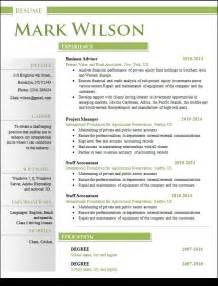creative resume format doc sle creative resume 18 documents in word