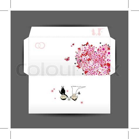 design  wedding envelope stock vector colourbox