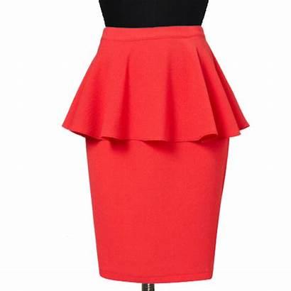 Skirt Pencil Peplum Plus Flared Skirts Blouse