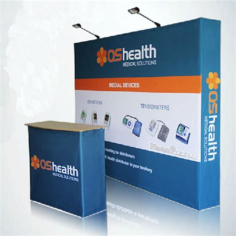 Backdrop For Display by 10ft Portable Custom Tension Fabric Trade Show Displays