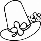Coloring Hat Clover Floppy Three Sun sketch template