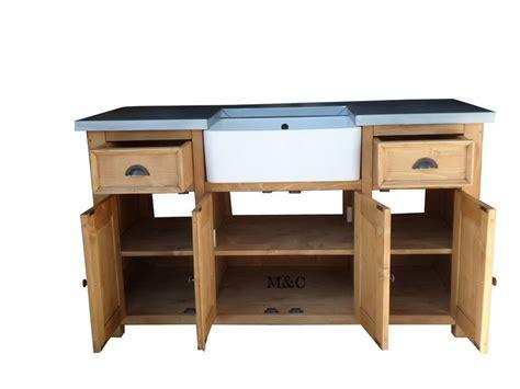 meuble de cuisine avec evier grand meuble evier de cuisine dessus zinc