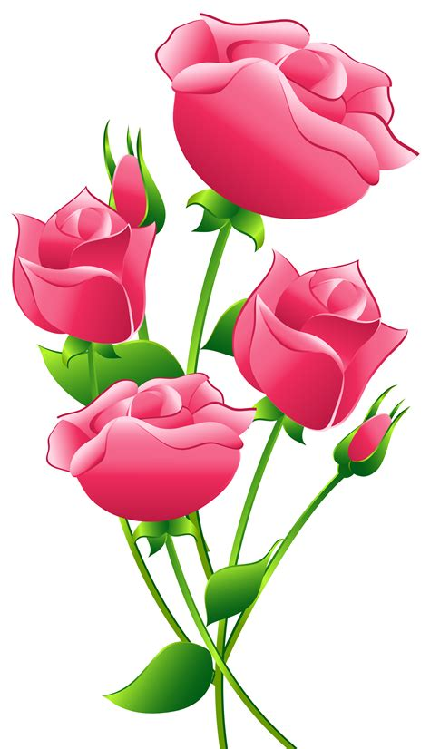 Roses Clip Pink Roses Clipart Clipground