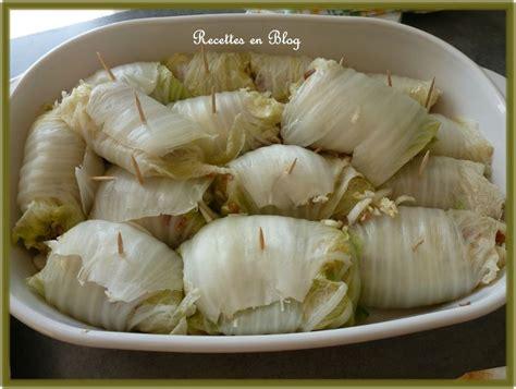 cuisiner le chou chinois chou chinois farci au chorizo recettes en
