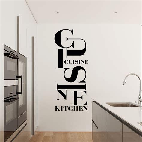 stickers texte cuisine finest sticker design cuisine kitchen stickers muraux pour