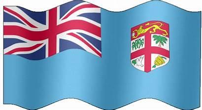 Fiji Flag Animated Fijian Waving Cat Graphics