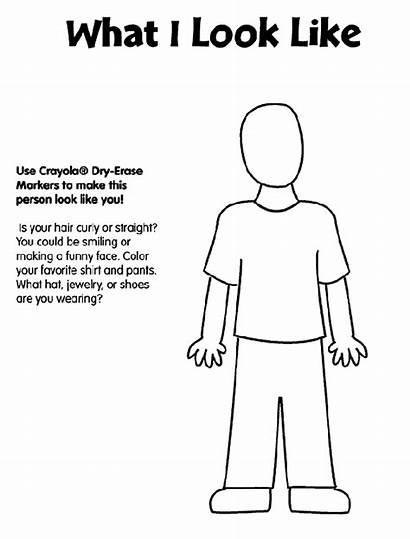 Coloring Pages Crayola Human Printouts Parts Printable