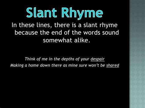 slant rhyme driverlayer search engine