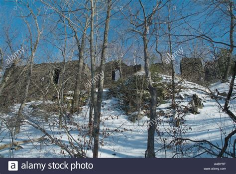 eyrie house ruins  mount tom state reservation