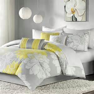 madison park lola comforter set king gray yellow 7198131 hsn
