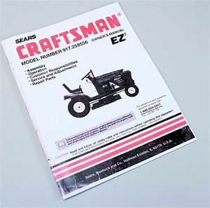 Craftsman 917 259556 Lawn Mower Garden Tractor Owners