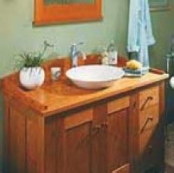 mission style vanity plans  woodworking