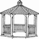 Gazebo Template Coloring Pages Sketch Templates sketch template