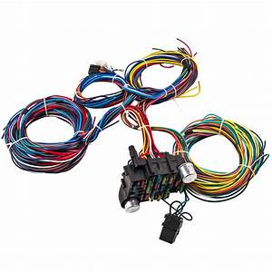 21 Circuit Wiring Harness 17 Fuses Street Hot Rod