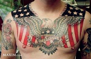 Army Chest Piece Tattoo For Men | Tattooshunt.com