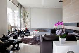 Modern Black House Bright Accents The Marble Walls And Floor In This Elegant Contemporary Living Room