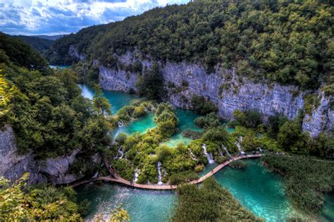 Plitvice Lakes National Park Waterfall In Croatia