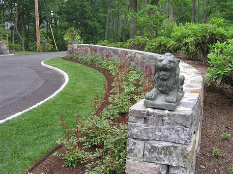 wall landscaping ideas landscape contemporary with