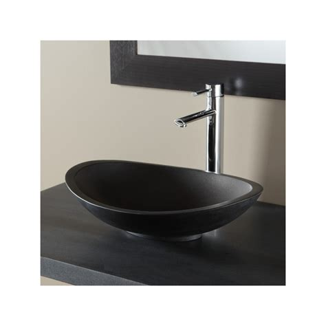 vasque a poser ovale vasques pour salle de bain coloris noir