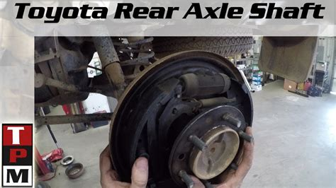 toyota runner rear axle removal leaking axle seal