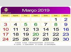 Calendário de Março de 2019 webcid