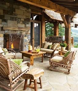 den balkon mit naturstein gestalten coole vorschlage With französischer balkon mit ecksofa garten holz