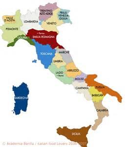 Italian Map Italy Regions