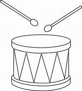 Drum Clip Clipart Drums Outline Snare Drawing Marching Christmas Template Cliparts Drawings Instrument Percussion Coloring Sweetclipart Amp Easy Line Colorable sketch template