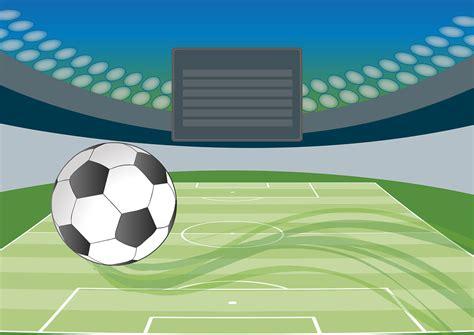 football stadium playing field  vector graphic