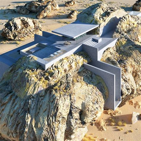 An Innovative House Carved Out Of A Cliff by Modern Rock House Built Into The Side Of An Boulder