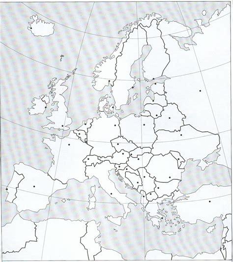 Carte De L Europe Avec Capitales Vierge by Europe Politique Exercice De Rep 233 Rage 4e Et 3e