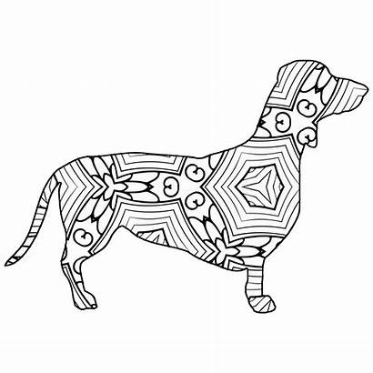 Coloring Pages Animal Geometric Dog Dachshund Sheets