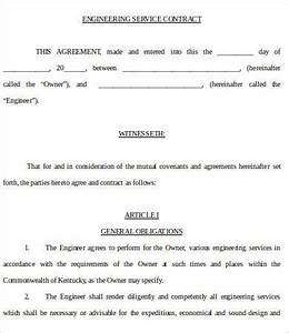 service contract templates 18 free word pdf documents With engineering services contract template