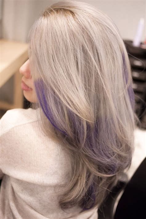 Gallery For Grey Purple Ombre Hair Greying Gracefully