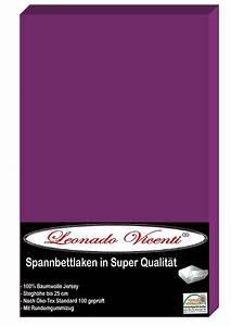 Laken 180 X 200 : leonado vicenti spannbettlaken 180 200x200 cm baumwolle jersey stretch lila ~ Bigdaddyawards.com Haus und Dekorationen