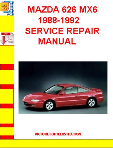 download car manuals pdf free 1988 mazda mx 6 instrument cluster mazda 626 mx6 1988 1992 service repair manual download manuals a