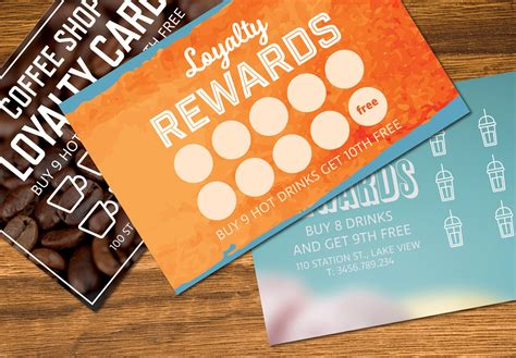 loyalty card templates mockup templates creative market
