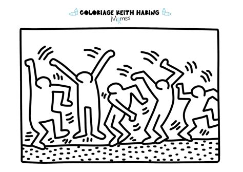coloriage chambre coloriage keith haring les danceurs momes