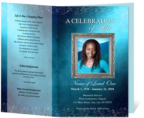 creative memorials  funeral program templates