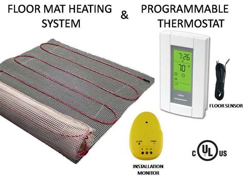 Electric Radiant Heat Mat - electric tile radiant warm floor heat heated kit mat with