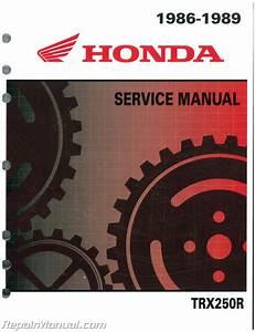 1986 1987 1988 1989 Honda Trx250r Atv Service Workshop Manual