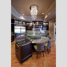Round Kitchen Island, Round Kitchen And Island Pendants On