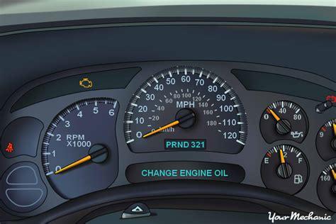 motor repair manual 2003 gmc safari instrument cluster understanding the gmc oil life system and service indicator lights yourmechanic advice