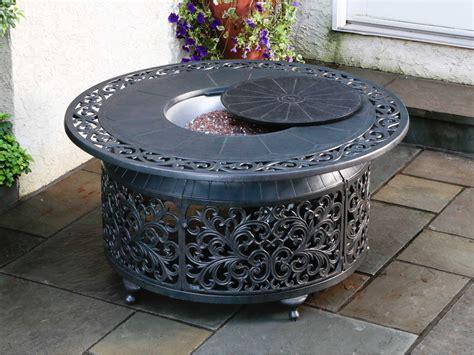 small fire pit table alfresco home bellagio cast aluminum 48 round propane gas
