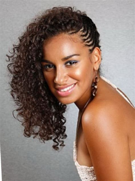 Cornrows And Curls Hairstyles by 26 Really Looks For Naturally Curly Hair Styles Weekly