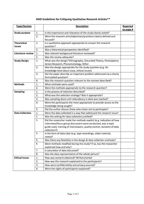 9+ apa research paper examples | examples this page contains several sample papers formatted in seventh edition apa style. Qualitative Research Article Critique Example (With images) | Nursing research articles, Essay ...