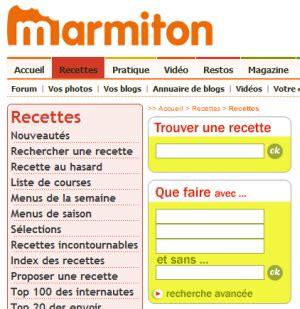 marmiton fr recettes cuisine télécharger marmiton recettes de cuisine