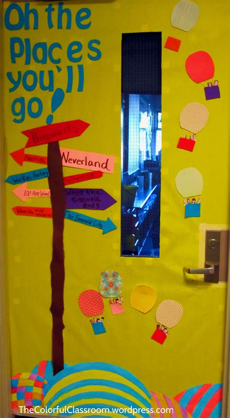 Oh The Places You Ll Go Decorations - bulletin board thecolorfulclassroom