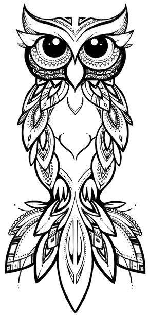 COCO   illustration & design tribal owl #owl #tribal #