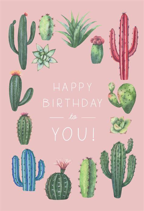 cactus birthday birthday card   island